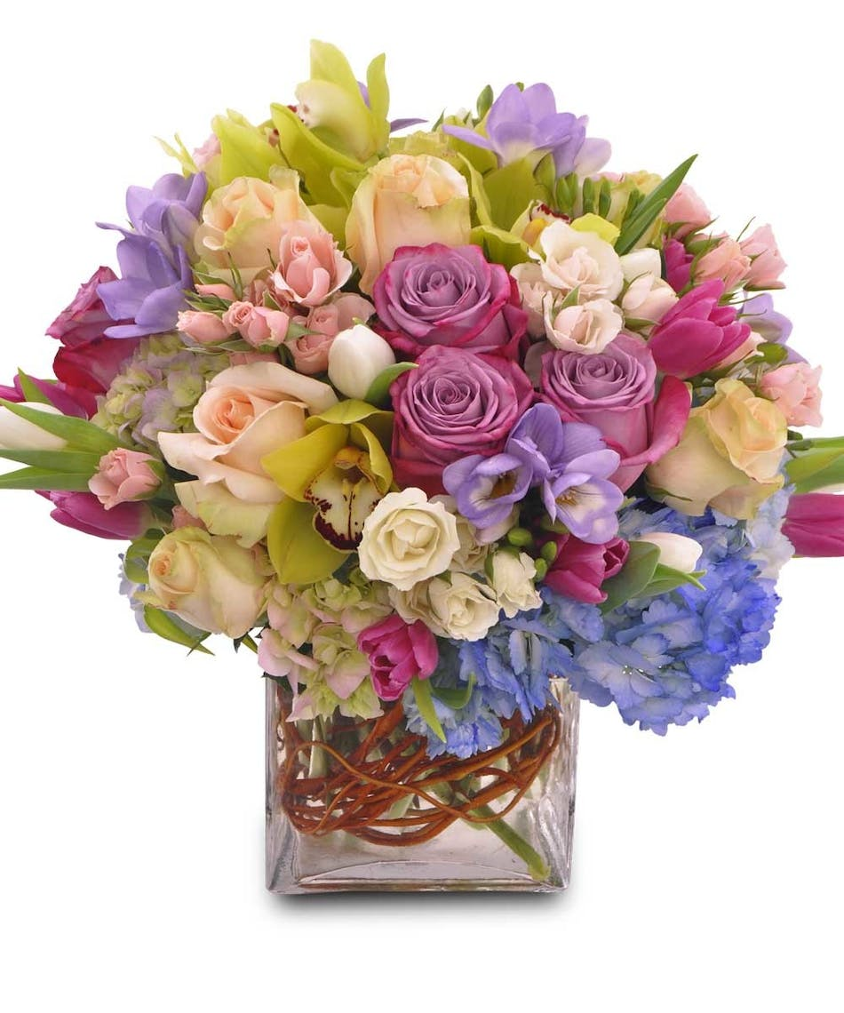 Symphony fresh cut flowers florist el cajon lavender roses and freesia floral arrangements florist san diego available for nationwide delivery izmirmasajfo