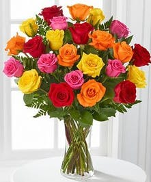 Assorted Color Roses  Floral Arrangements, Florist Solana beach