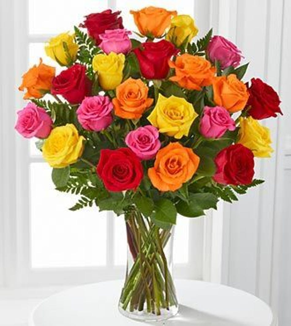 Solana beach roses solana beach red roses solana beach pink roses assorted color roses floral arrangements florist solana beach mightylinksfo