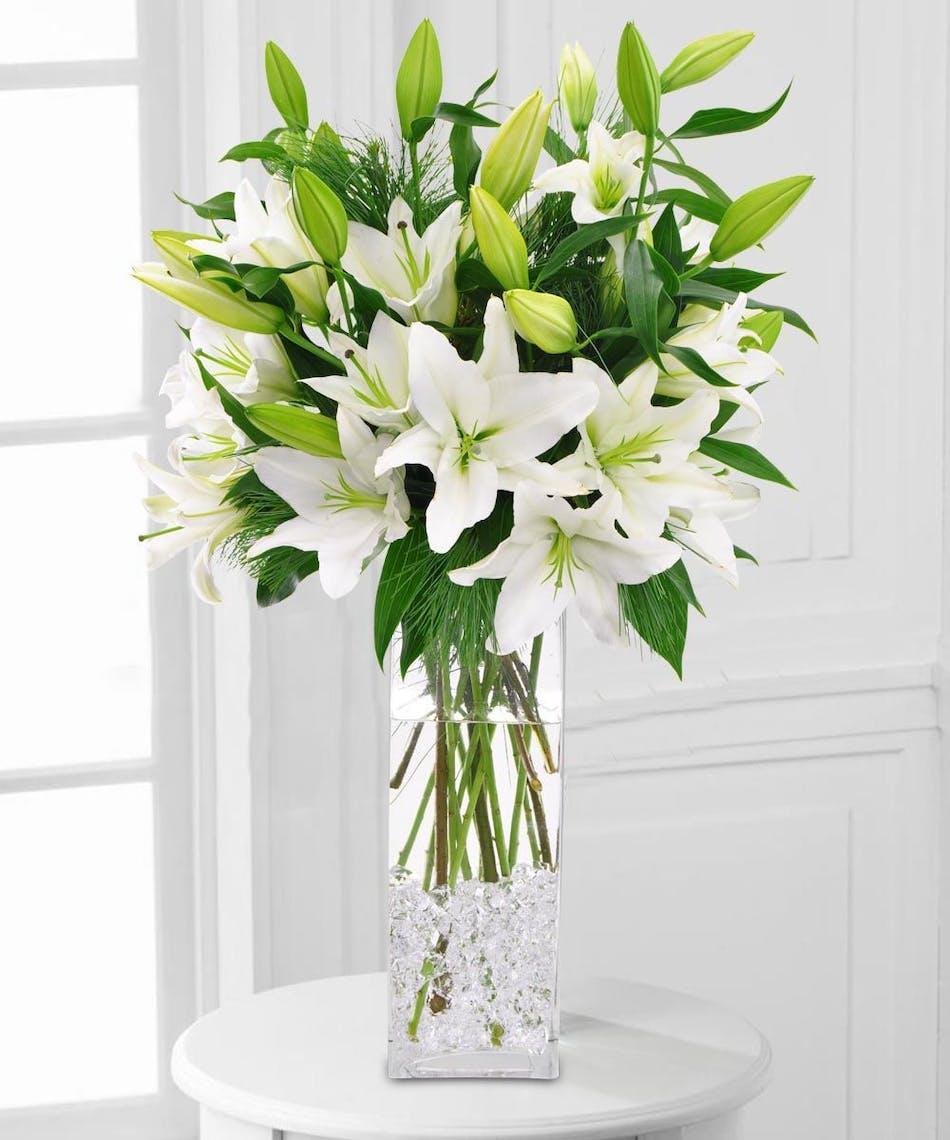 San Diego White Casablanca Lilies