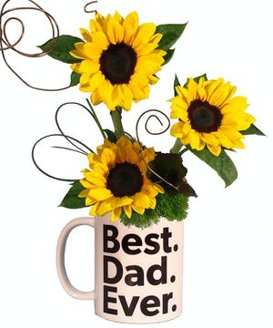 Best Dad Sunflowers