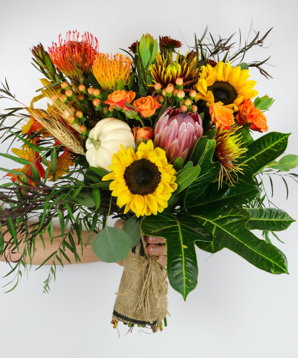 Handful Of Fall Hand Tie Bouquet Voted Best Florist In San Diego