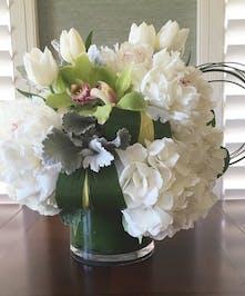 White Peony Arrangements, Florist San Diego