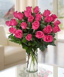 Hot Pink Roses by Allen's Flowers