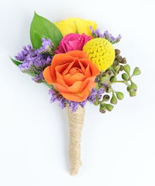 Bright Spring Boutonniere