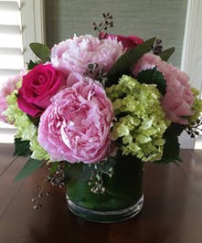 Pink Peony Flower Arrangements, Florist San Diego