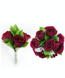 Red Spray Rose Combo