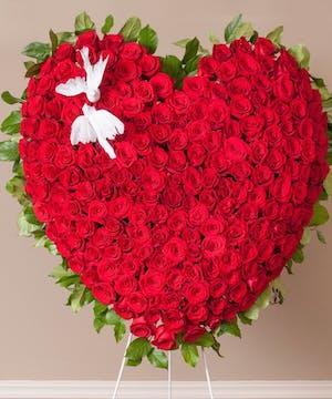 Sympathy Standing Heart Spray, Florist San Diego
