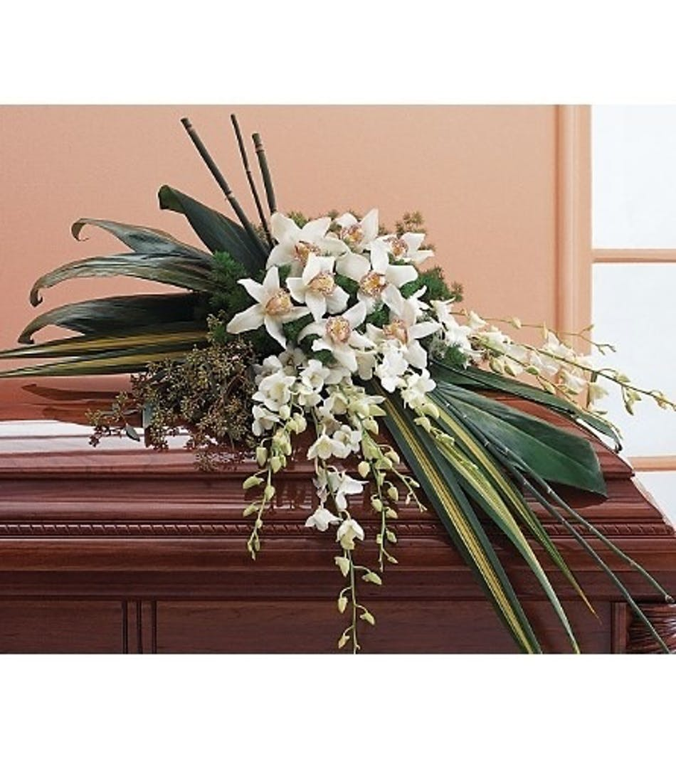 Cymbidium casket voted best florist in san diego san diego ca available for nationwide delivery izmirmasajfo