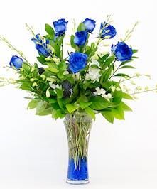 Blue Roses, Dendrobium Orchids, San Diego Florist