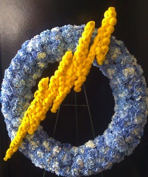 Chargers Wreath'