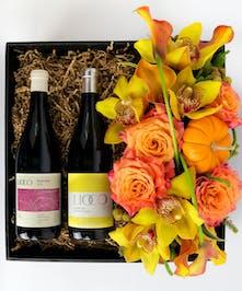 Wine Duo & Flowers