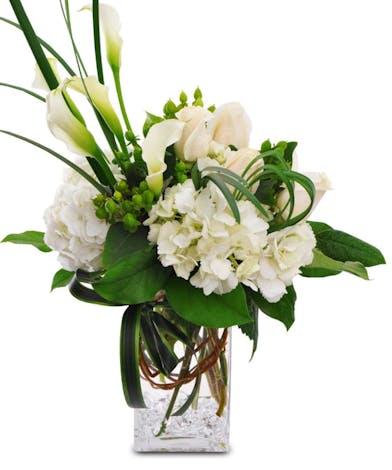 White Calla Lilly Flower Arrangements, Florist San Diego