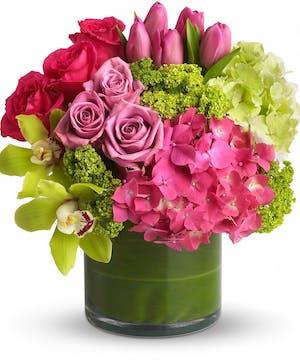 Hydrangea and Roses Floral Arrangements, Florist San Diego