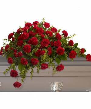 Red Grace Casket Spray