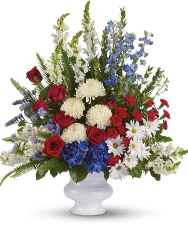 Funeral Flower Arrangements Coronodo Funeral Flowers Patriotic Funeral Flowers For Military
