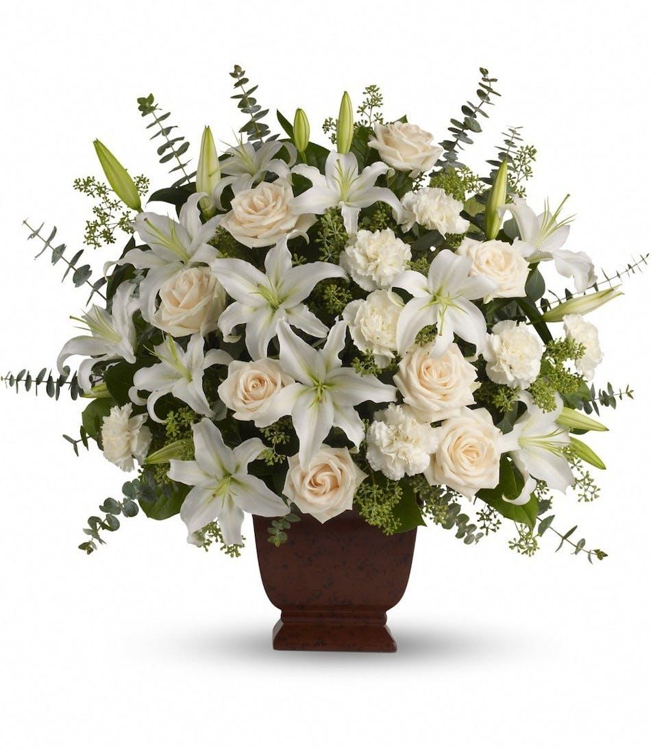 White Lilies San Diego White Carnations San Diego White Roses San