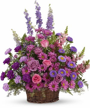 A Lavender Tribute Basket