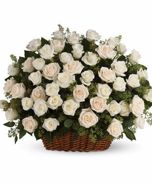 A Heavenly Rose Basket