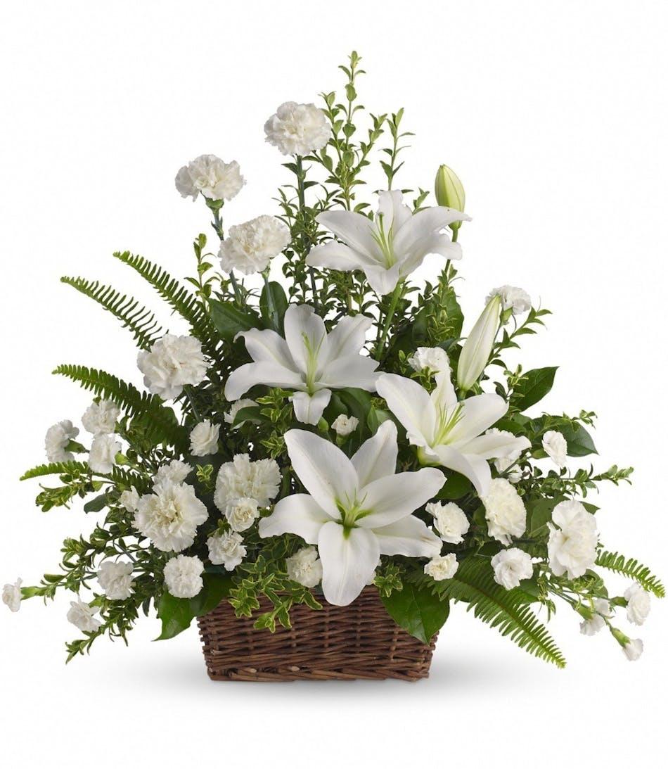 White Carnations La Mesa White Lilies La Mesa White Miniature