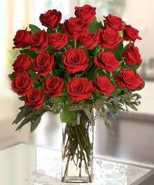 Red Long Stem Roses by Allen's Flowers