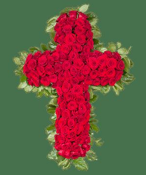 Sympathy Standing Cross Spray, Florist San Diego