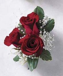 Corsage Red Rose