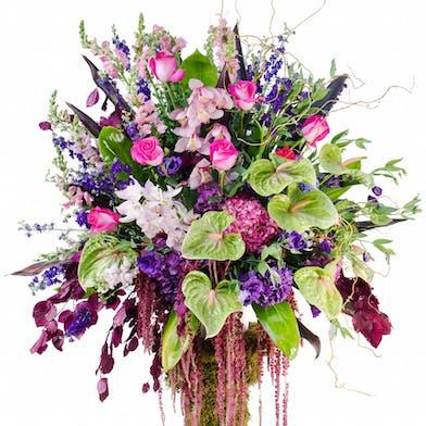 Sympathy Basket Flower Arrangements, Florist San Diego