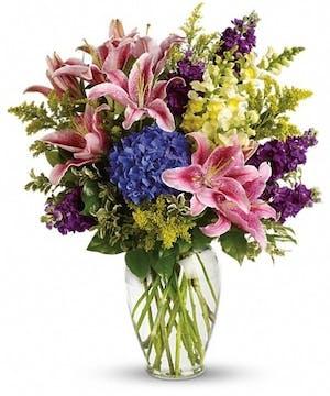 Stargazers and snapdragons Floral Arrangements, Florist San Diego