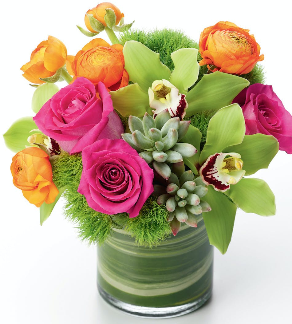 Mood Changer - Green Cymbidiums, Allen\'s Flowers, San Diego Florist