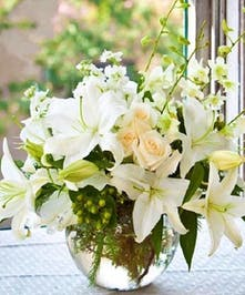 White Lilies and Orchids'