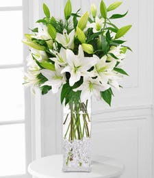 Crystal White Lilies
