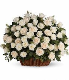 A Heavenly Rose Basket
